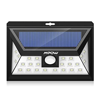 Mpow Solar Light Mpow Solar Outdoor Light 24 Led 3 Modes 120 Wide Angle