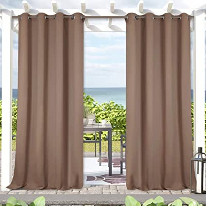 Exceptionnel Blackout Outdoor Curtains For Patio   Indoor Outdoor Curtains Waterproof  Outdoor Curtains 84 Inches Long Thermal