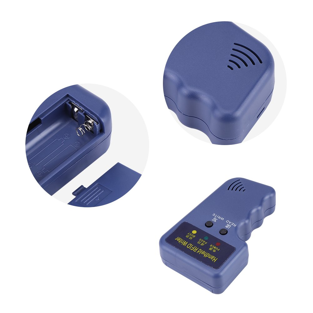 EM410X-Karte//Tag-ID mit 6 ID-Karten und Anh/änger-Kit NFC Kopierer Reader Writer,Handheld 125 kHz RFID ID Karte Writer//Kopierer////Reader Duplikator beschreibbares EM4100 Schl/üssel Karten