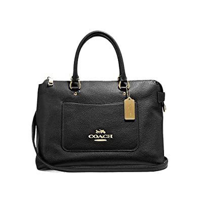 Image Unavailable. Image not available for. Color  Coach Emma Leather  Satchel Purse ... 77501065c3