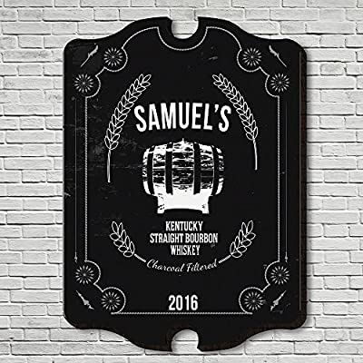 Straight Kentucky Whiskey Custom Bar Sign (Customizable Product)