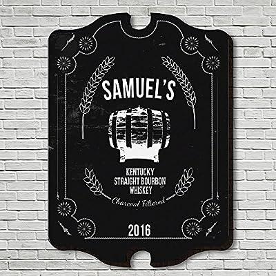 "Straight Kentucky Whiskey Custom Bar Sign (Large 21"" x 16"")"