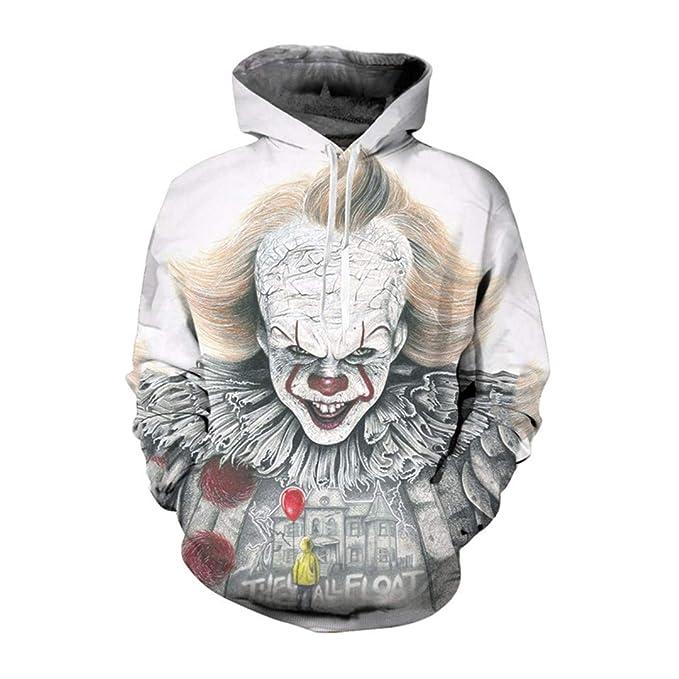 Amazon.com: Sudadera con capucha 3D con diseño de flor Joker ...