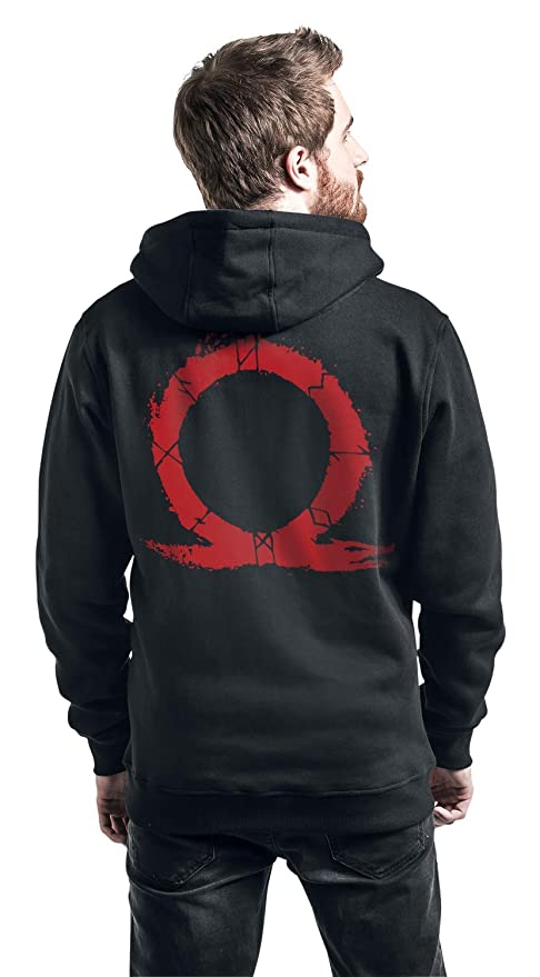 God Of War Serpent Logo Capucha con Cremallera Negro: Amazon.es: Ropa y accesorios