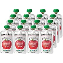 Once Upon a Farm Organic, Cold Pressed, Refrigerated Kids Applesauce, Straight from the Apple Tree, 3.2 Ounce (Pack of 16)