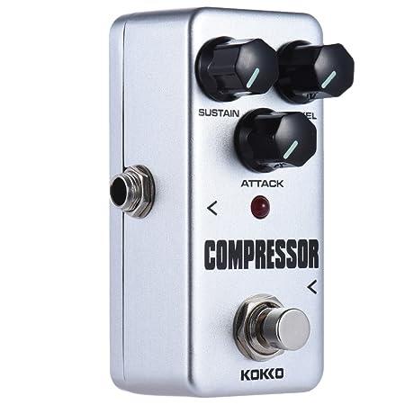 ammoon kokko Guitarra Pedal de Efectos fcp2 Mini Compresor Portable Pedal: Amazon.es: Instrumentos musicales