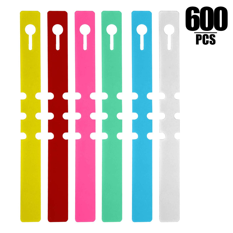 KINJOEK 6 Colors Plant Labels, PVC Plant Tags for Garden Adjustable Waterproof Plant Tags (600) by KINJOEK