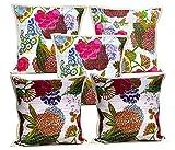 5Pcs-100Pcs Amazing India Kantha Stitch Floral Work White Home Decorative Cushion Covers Wholesale Lot