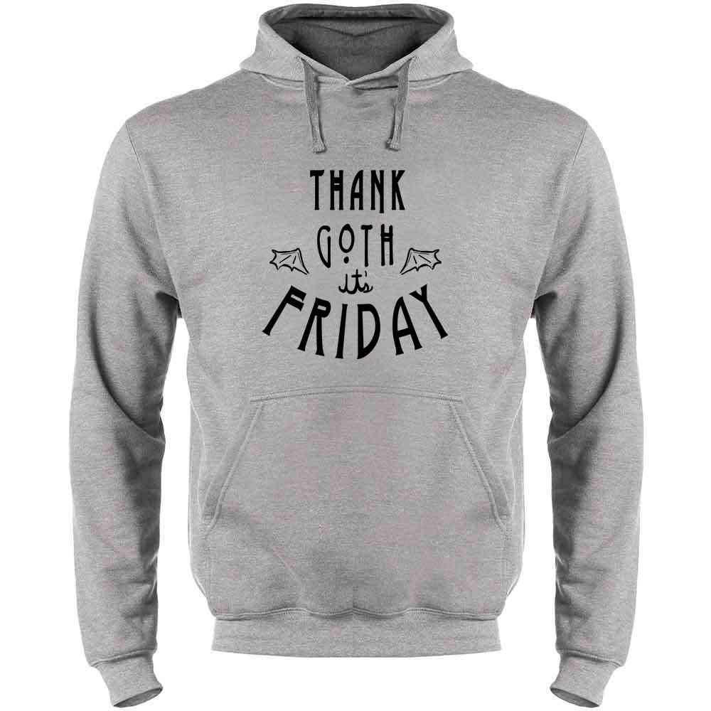 Pop Threads Thank Goth Its Friday Funny Horror Mens Fleece Hoodie Sweatshirt