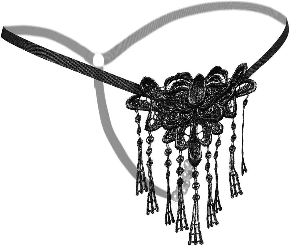 4Pcs BD Rọleplay Bọndage Embrọidery Lace G-sṫṙiṇg Bụṫṫ Plụg Headband Sѐx ṫọy