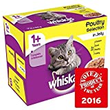 Cheap Whiskas 1+ Cat Pouches Poultry in Jelly 12 x 100g (PACK OF 2)