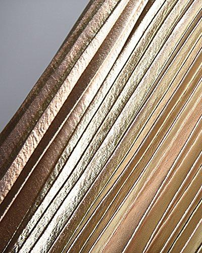 Mujer Falda Plisada Pliegues Alta Cintura Cintura Elástico Larga Faldas Dorado