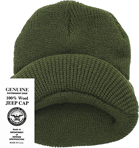Genuine GI Official Military Wool Cold Weather Winter Knit Hat Jeep Watch  Cap fc4c4aa1e90c