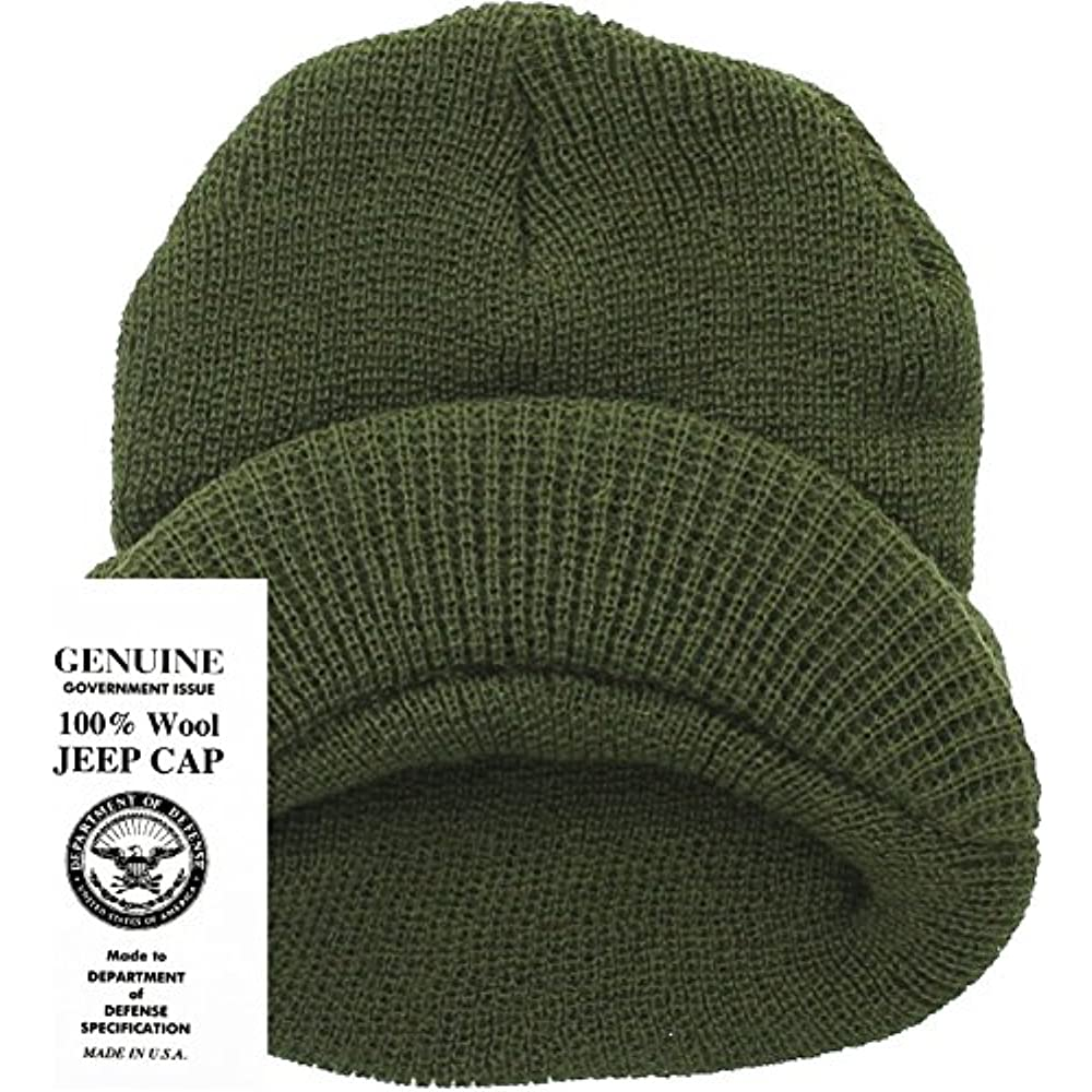 9e47f6ed Genuine GI Official Military Wool Cold Weather Winter Knit Hat Jeep Watch  Cap (Olive Drab) Clothing