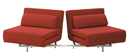 Amazon.com: Convertible LK06-2 2 Seater Sofa Bed in Red ...