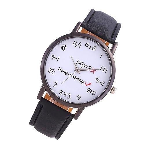 Relojes para Niñas Impermeable en Venta, Mujeres Relojes de Pulsera 2019, Unisex Hombres Retro Lindo Fórmula Faux Leather Analógico Reloj de Cuarzo: ...