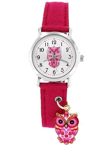 Crystal Blue Niños Reloj De Pulsera Búho Reloj de pulsera infantil niña Búhos Niños Relojes Relojes reloj niños reloj de pulsera infantil Reloj analógico de ...