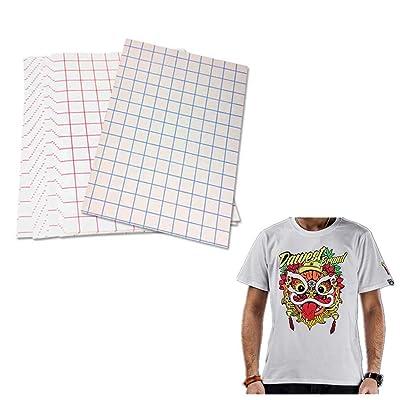 12 Transferencias Camiseta Transferencias Impresoras de inyección de tinta, planchable, color claro, camiseta, Transferencias de papel, tamaño 8.5 x 11 pulgadas: Oficina y papelería