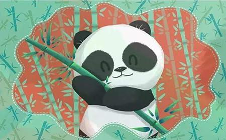 Peinture Murale Dessin Animé Dessin Animé Panda En Bambou