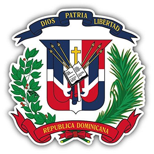 - Dominican Republic Coat Of Arms Vinyl Decal Bumper Sticker 5'' X 5''