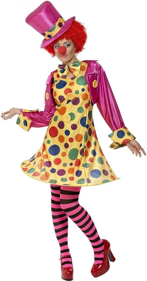 Disfraz payaso bufón mujer Multicolour M 40/42 de payaso para ...