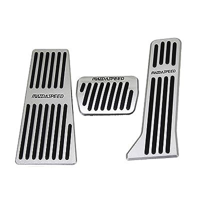 Weigesi Pedal auto Foot Pedals Break Gas Pedal Cover for Mazda CX-3 CX3 CX-5 CX5 MAZDA3 MAZDA6 Accessories Automatic Transmission at 2015-2020: Automotive