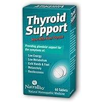 Natra-Bio compresse omeopatiche naturali per aiutare il funzionamento della tiroide - 60 compresse vegetariane