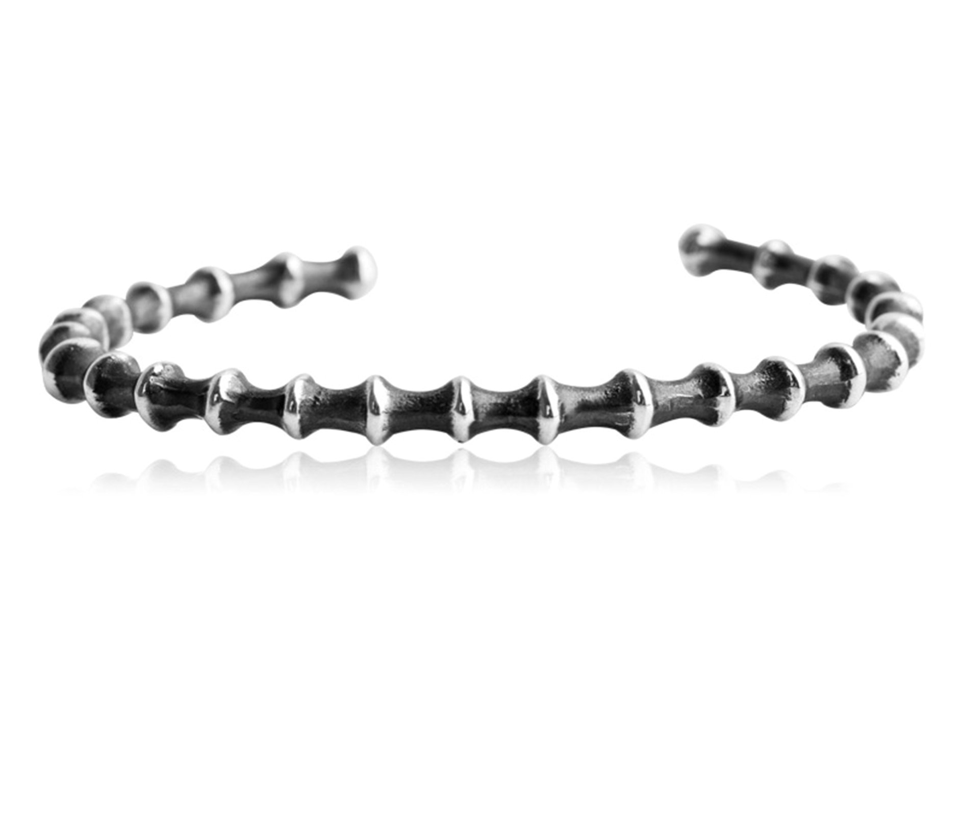 Daesar 925 Silver Bracelet For Men Bone Openings Bracelet Silver Chain Length:21CM