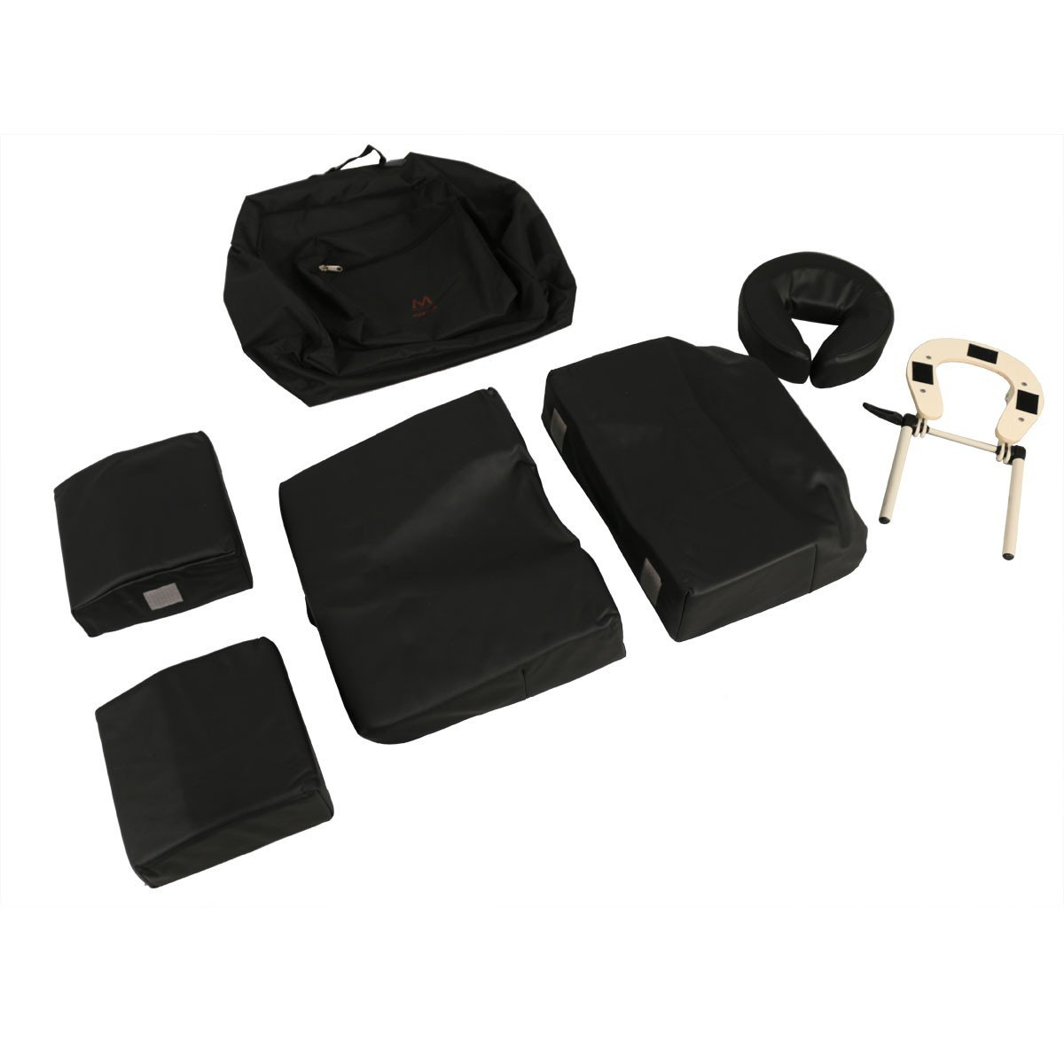 Minerva Deluxe Massage Pregnancy Bolster Set in Black with Carrying Case by Minerva