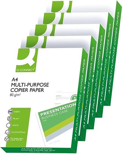 Papel fotocopiadora q-connect din A4 80 gramos - Caja de 2500 ...
