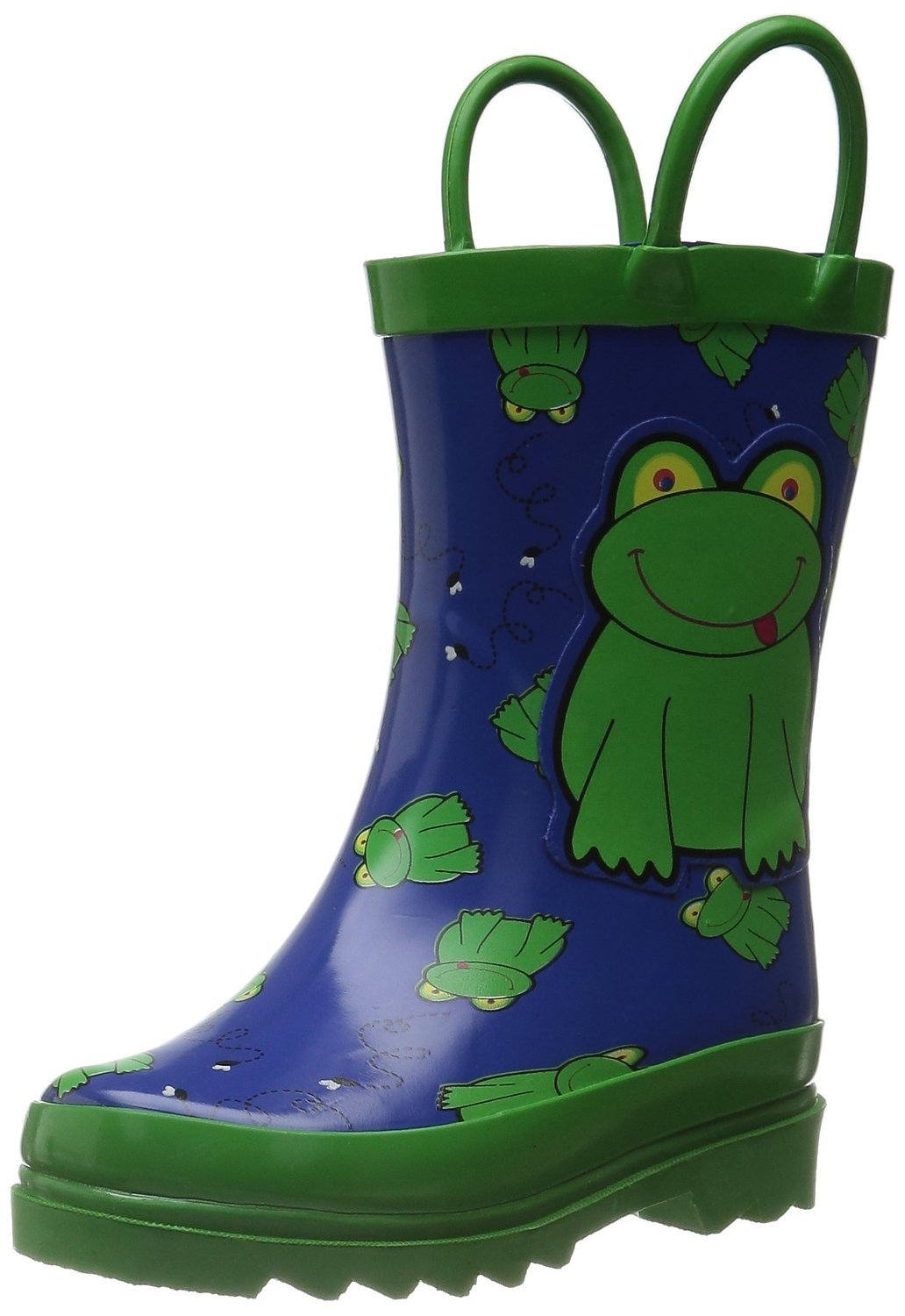 Little Boy's Green Frog Rain Boots Sizes Toddler/Little kids (11 M US Little Kid) by AccessoWear