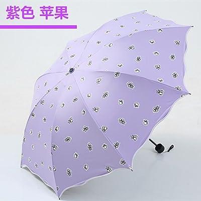 KHSKX-Le Parasol, Parapluie Déesse Petite Eau Douce Fleur Parapluie Corée Créatif Couleur Crème Solaire