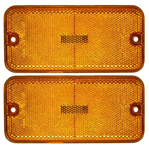 Pair of Front Signal Side Marker Light Lamp Replacement for Chevrolet GMC Van 915489 GM2550113 ()