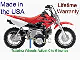 RSLLC Adjustable Motorcycle Training Wheels for