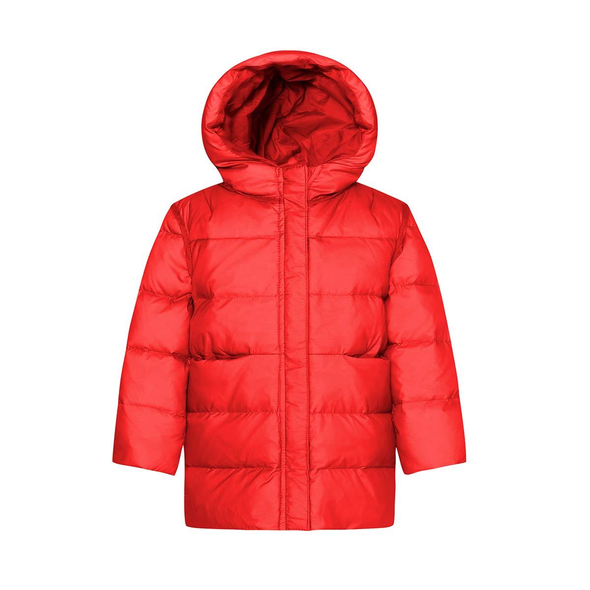 American Trends Baby Girl's Winter Coat Fleece Hooded Puffer Winter Jacket Outwear ATNEOAS2652T0000