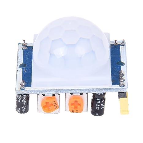 SODIAL(R) Blanco piroelectrico infrarrojo PIR Motion Sensor Detector modulo