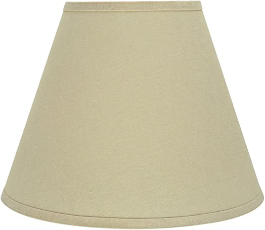 Aspen Creative 32289 Transitional Hardback Empire Shaped Spider Construction Lamp Shade in Beige, 14 Wide 7 x 14 x 11