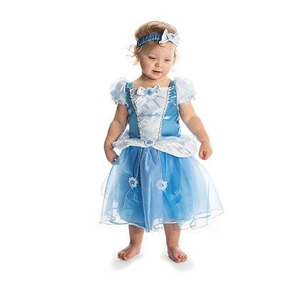 Disney Princesas Princesa Disfraz bebé, Color azul, 18-24 ...