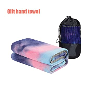 365 DAYS Microfiber Yoga Towel | Yoga Mats Towel | Sweat Absorbent, 25 x 72 Multicolored Moisture-Wicking Hot Yoga Rug for Pilates and Workout