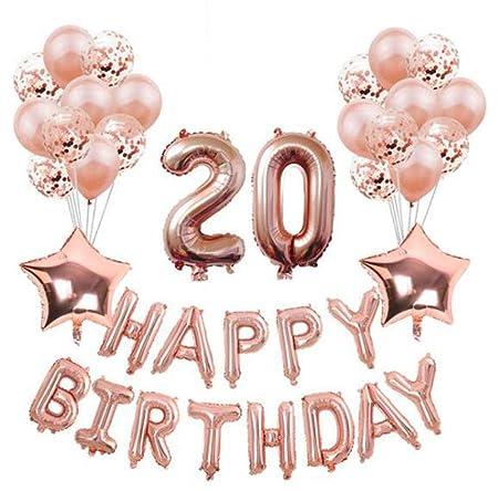 HANJIAJKL 37 Decoraciones de Feliz cumpleaños para niñas y ...