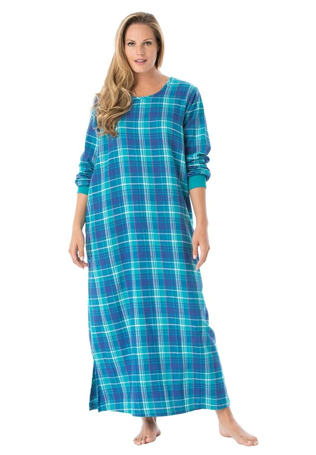 Dreams & Co. Women's Plus Size Soft Cotton Flannel Lounger