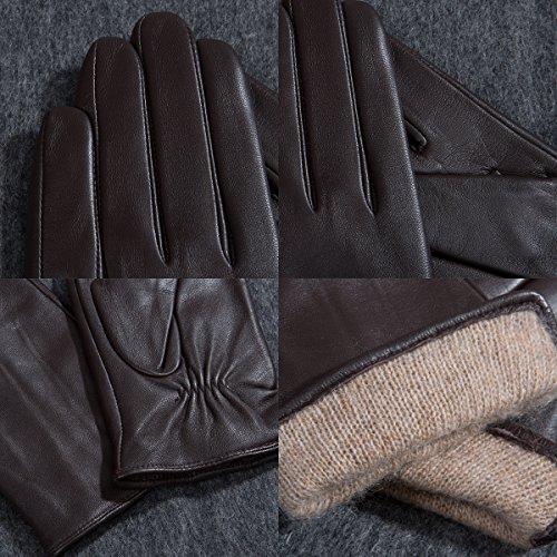 Matsu M9022 レディース ラムスキン手袋 冬用 暖かい 柔らかい レザー 運転用 US サイズ: X-Large