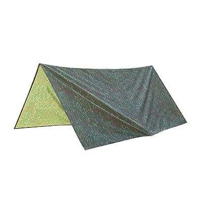 Sharplace Bâche Abri Imperméable à Tente En Tissu pour Camping Randonée Camouflage Vert