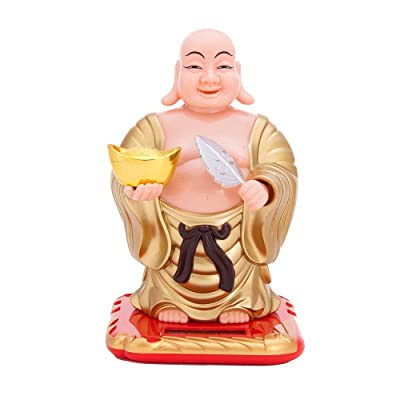 THY COLLECTIBLES Solar Powered Bobblehead Toy Figure Nohohon, Buddha 074: Toys & Games