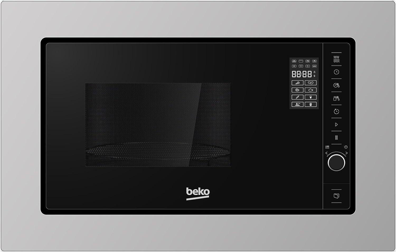 Beko MOB20231BG Integrado 20L 800W Acero inoxidable - Microondas (Integrado, 20 L, 800 W, Giratorio, Tocar, Acero inoxidable, 568 mm)