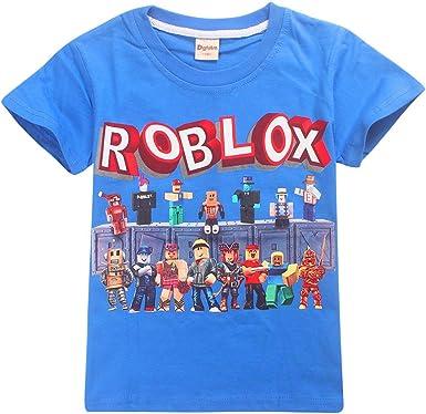 Roblox Camiseta Camisas de Vestir para niños y niñas. Mangas Cortas. Camisetas elásticas de Fibra de bambú. niños: Amazon.es: Ropa y accesorios