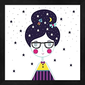 Amazon.com: Great Art Now Space Girl by Katy Halford Fine Art Print ...