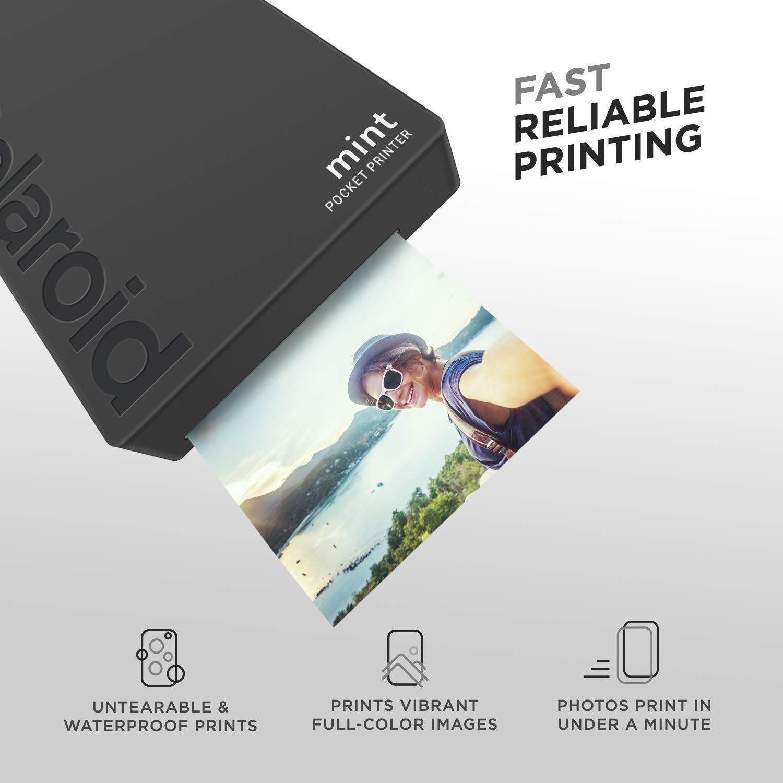 Polaroid Mint Impresora de Bolsillo Inalámbrica (Negro ...