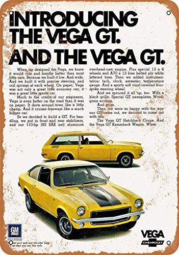 TAL SIGN - 1971 Chevrolet Vega GT - Vintage Look Reproduction (Chevrolet Vega Gt)