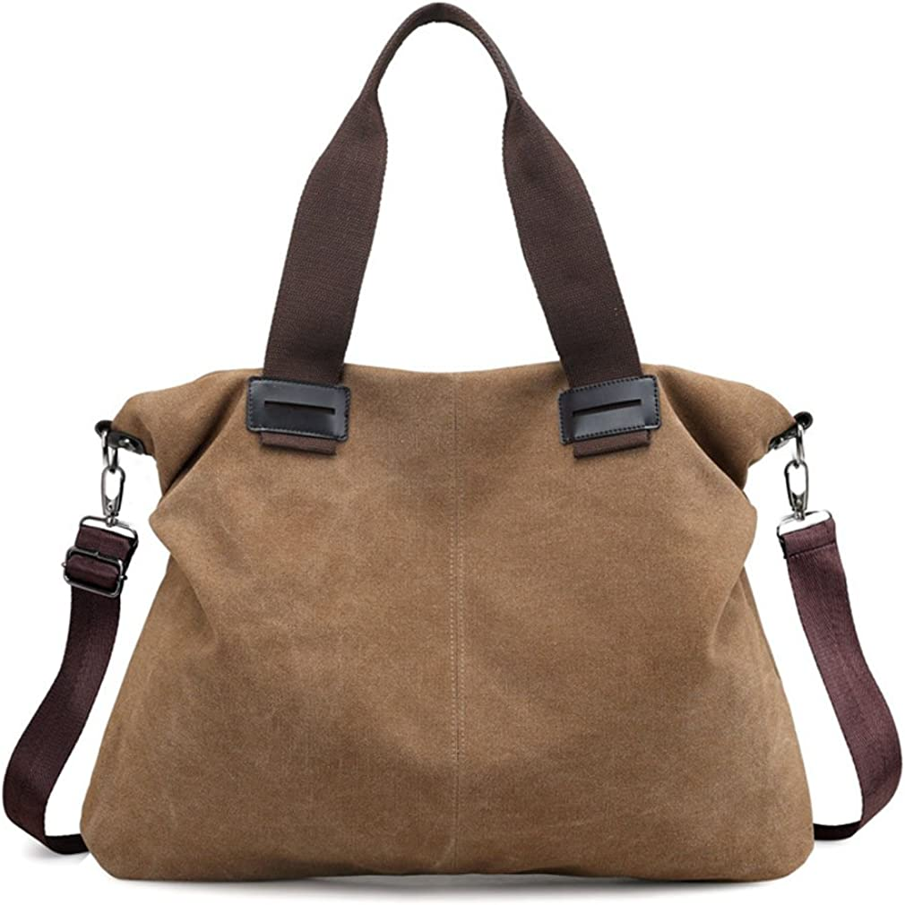 Women's Canvas Vintage Shoulder Bag Hobo Daily Purse Large Tote Top Handle Shopper Handbag